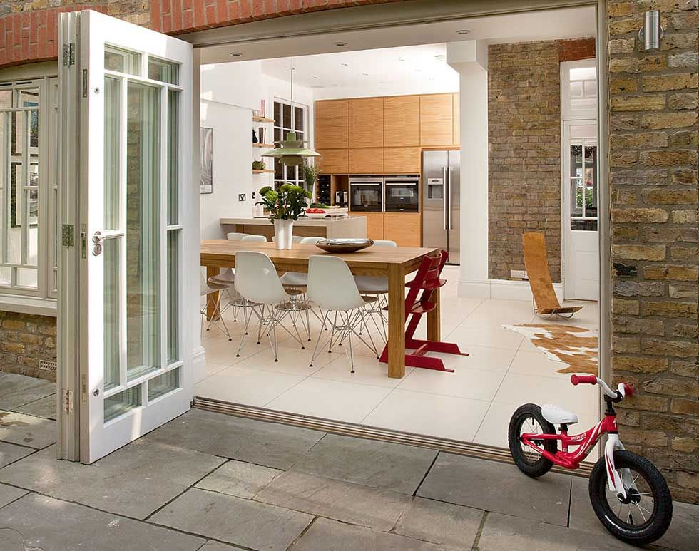 Custom Made Traditional Style Timber Bi Fold Doors
