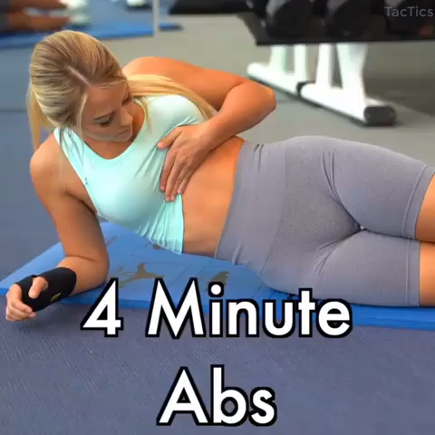 4 Minute Abs Video Abs Workout Abs Workout Routines Workout