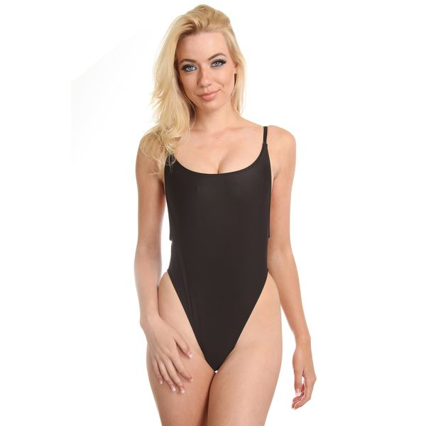 3e04e1b25906 Dippin Daisy's Solid Black High Cut Vintage Swimsuit | b e a c h y ...