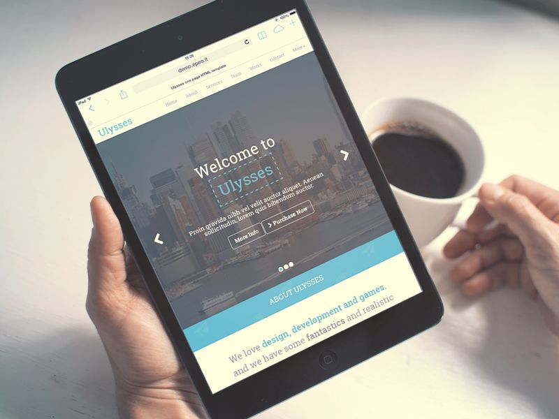 ulysses one page parallax template by emiliano cicero gui