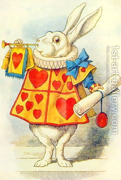 The-White-Rabbit,-Illustration-From-Alice-In-Wonderland-By-Lewis-Carroll-1832-9.jpg (404×600)