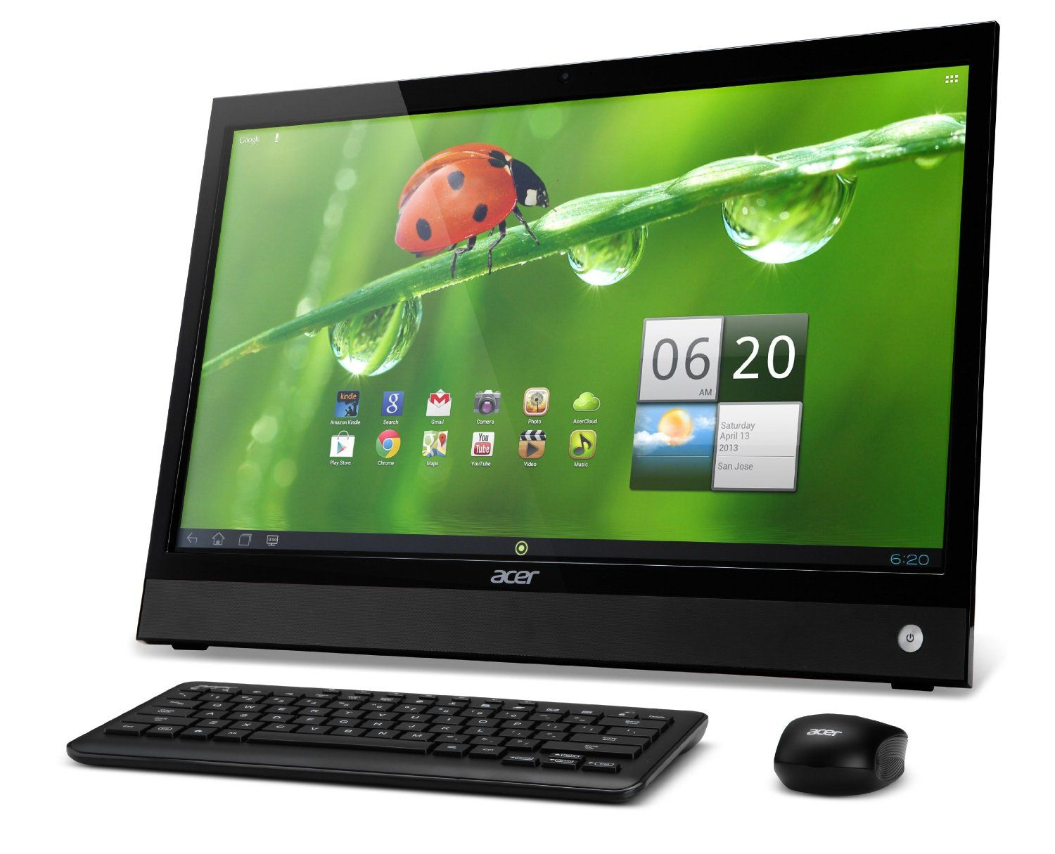 Dell inspiron 23 quot 5348 all in one desktop unboxing youtube - Amazon Com Acer Da220hql 21 5 Inch Android All In One Touchscreen