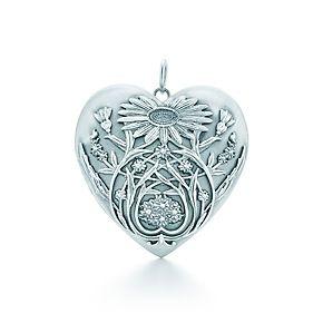 c3cb08e66 Tiffany & Co. Ziegfeld Collection daisy locket in sterling silver.  #TiffanyPinterest