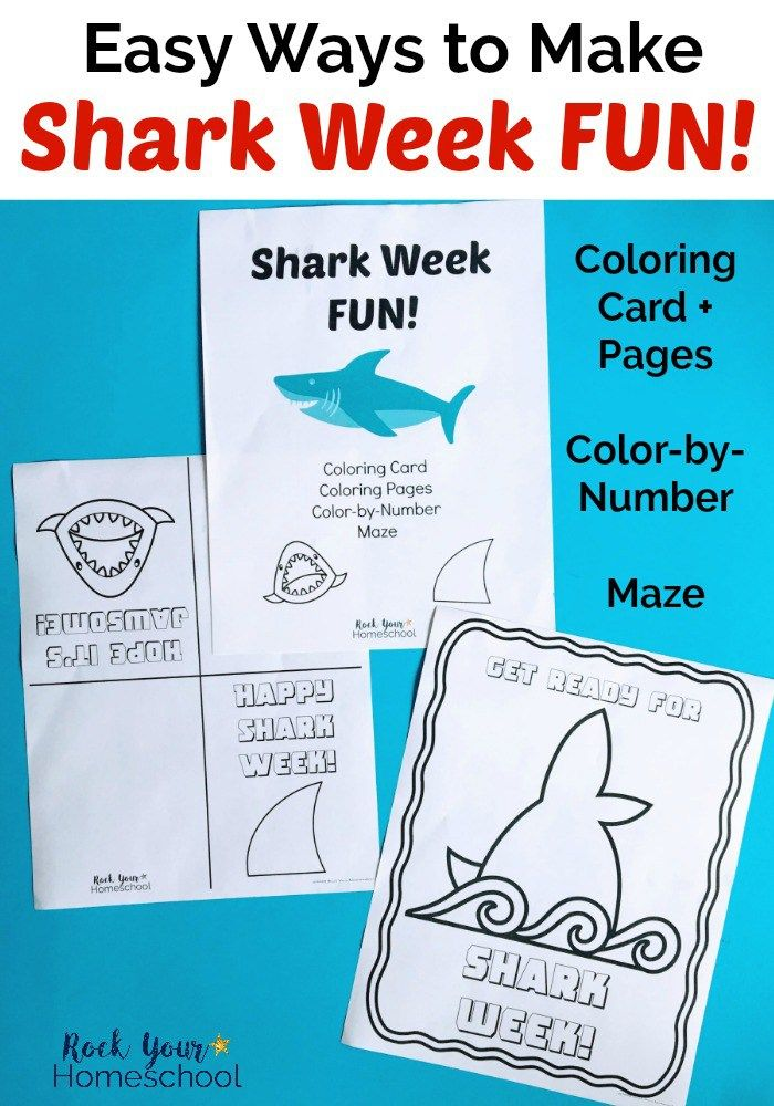 Easy Ways to Make Shark Week Fun with this Printable Pack ...