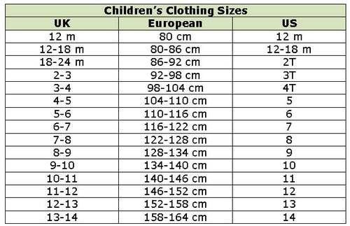 Kids European Shoe Size