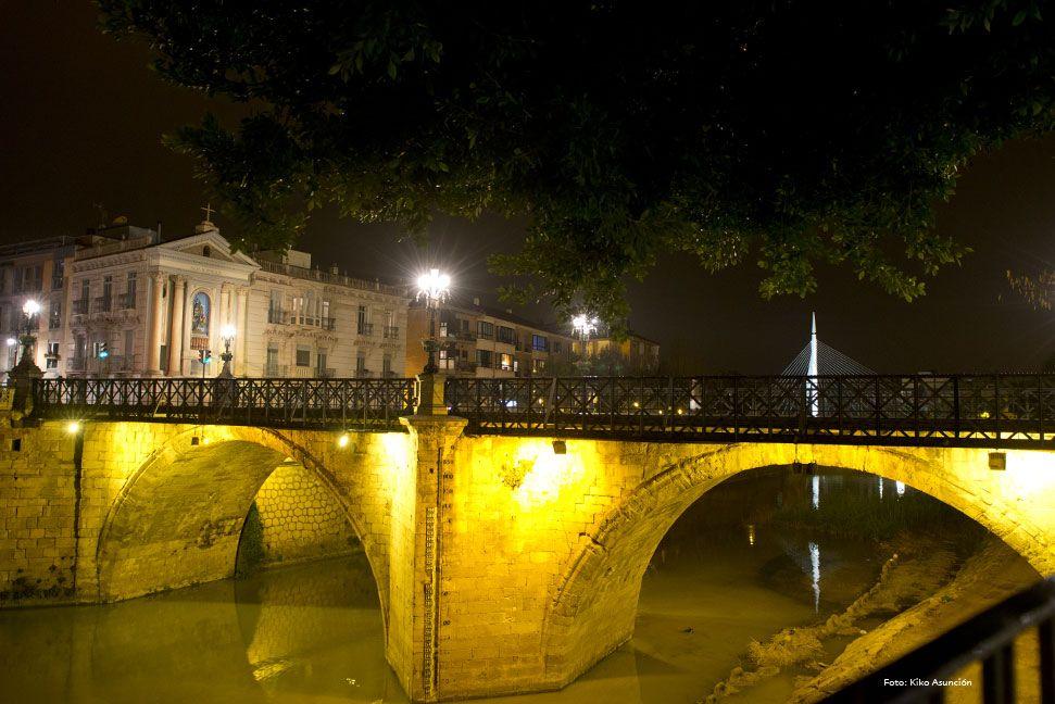 Foto Nocturna Del Puente Viejo Fotos Nocturnas Puentes Puentes Viejos