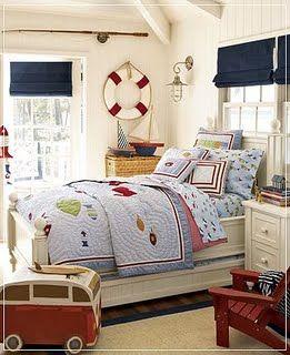 Boys bedroom - coastal theme