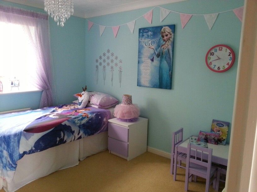 Frozen Room Wall Color For A Frozen Bedroom Frozen Themed Bedroom Girl Room