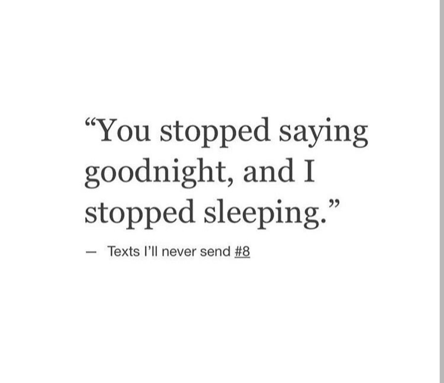 I Can't Sleep Anymore Because Of The Emptiness I Feel. I