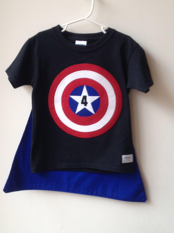 Superhero Birthday Shirt With Full Size Cape