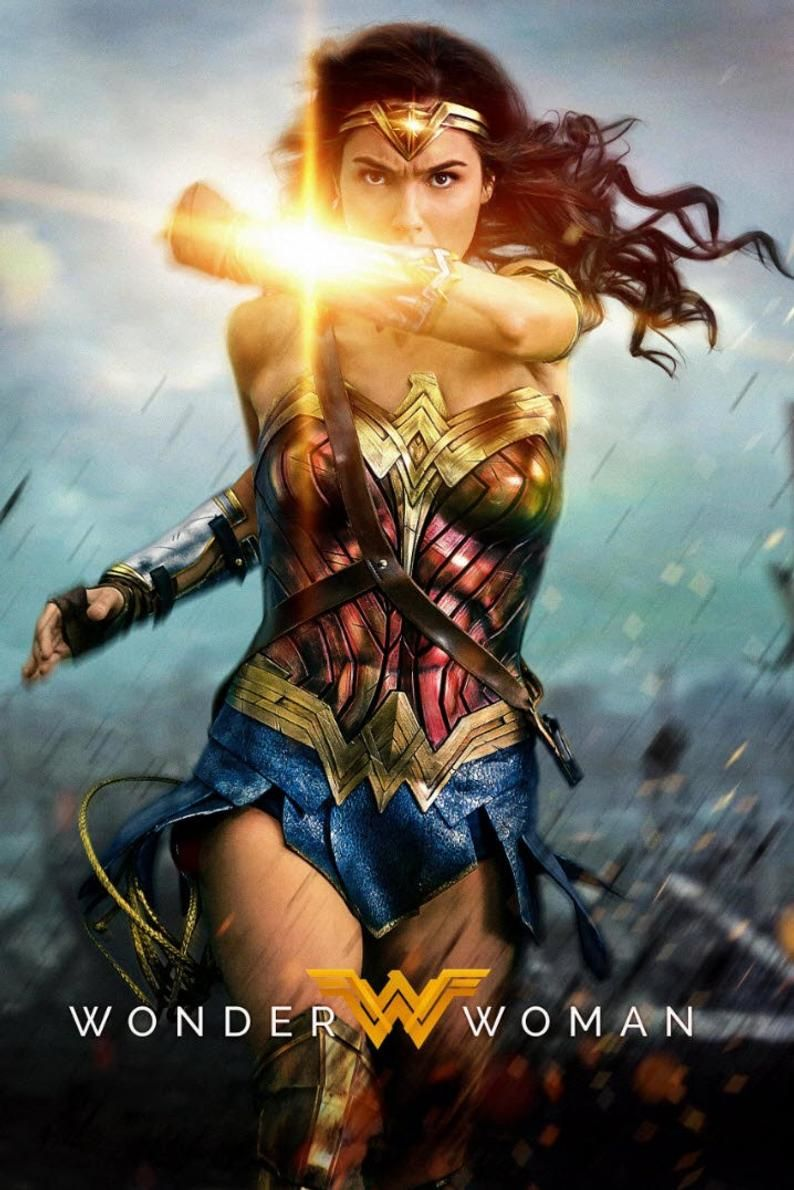 Wonder Woman Movie Poster Print Size 24 X 36 Fast Shipping Wonder Woman Movie Wonder Woman Gal Gadot