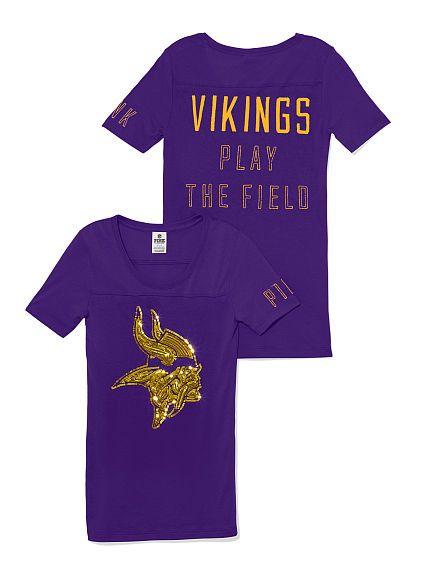 861e978b5 Minnesota Vikings Bling Tee PINK OMG VS YES! killing it this year haha!!