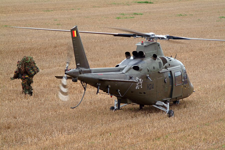 Belgian 1 Wing AugustaWestland A109-BA carrying troops.