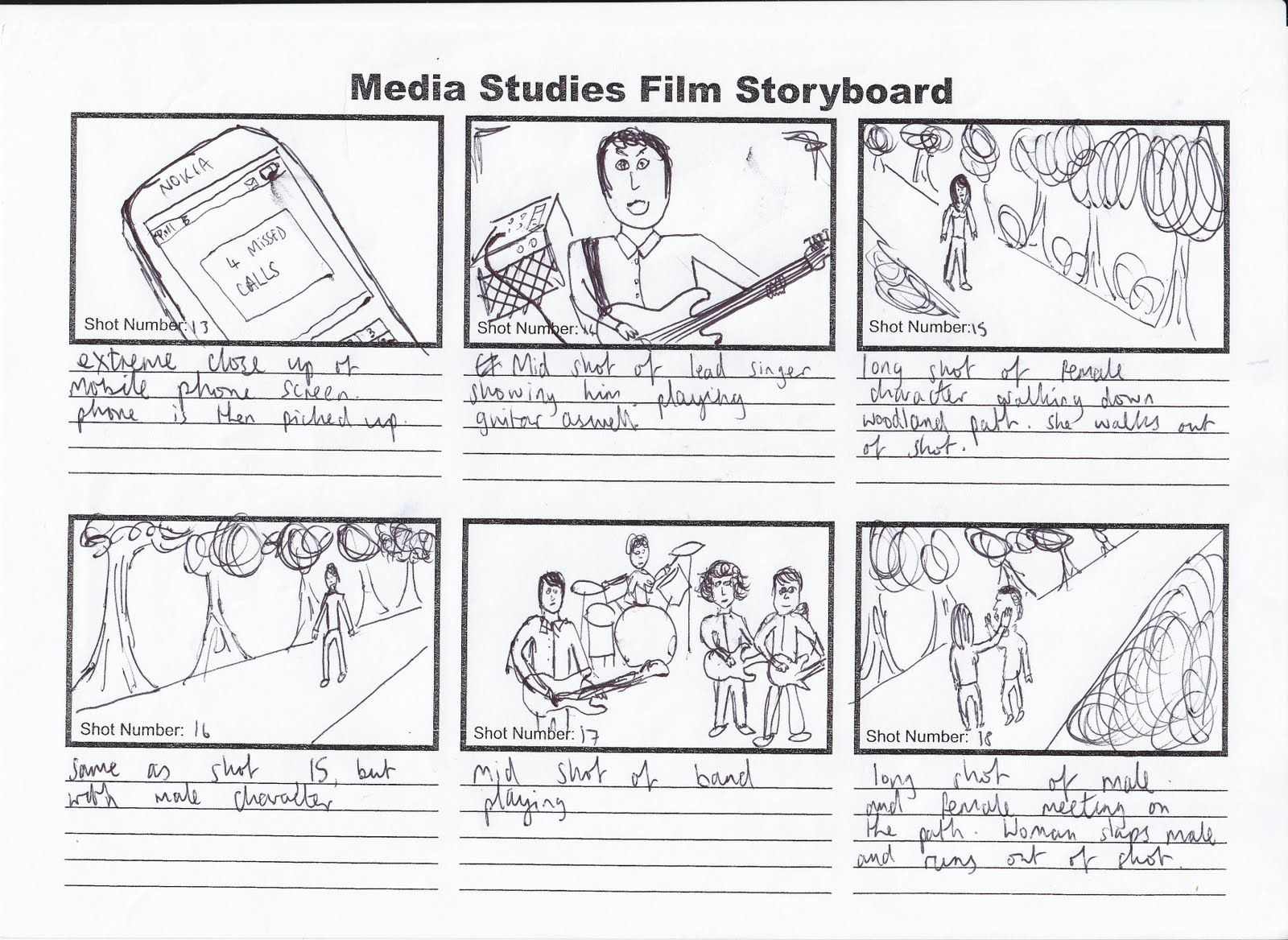 kris barnard media a2  music video storyboard