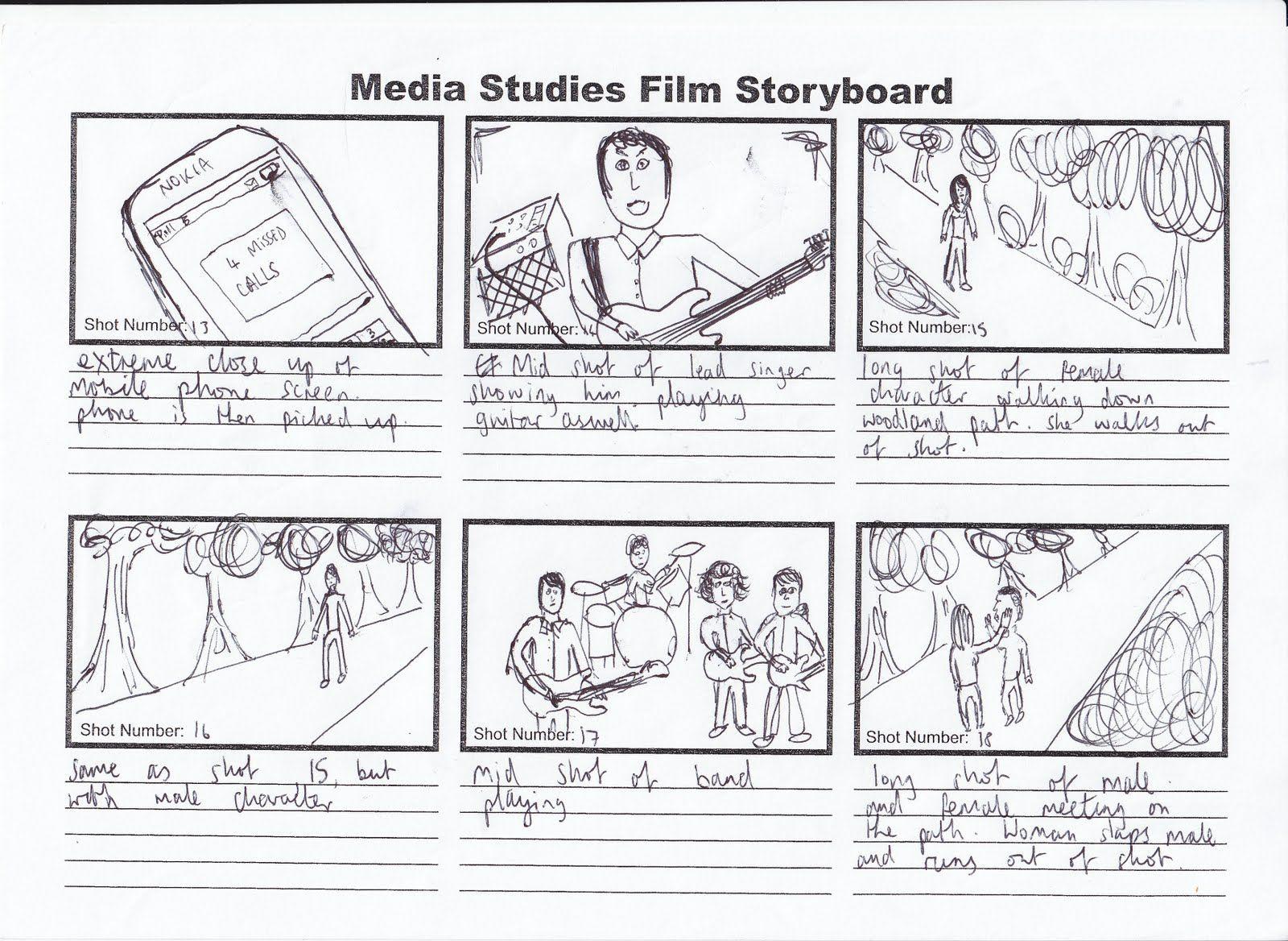 Kris Barnard Media A2: Music Video Storyboard | Video Lessons ...