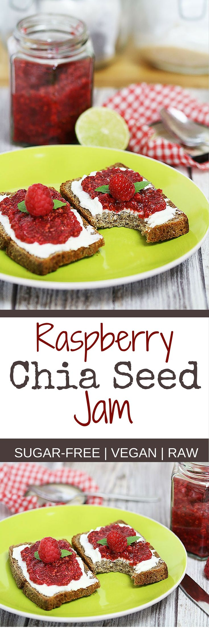 Raspberry Jam With Chia Seeds Sugar Free