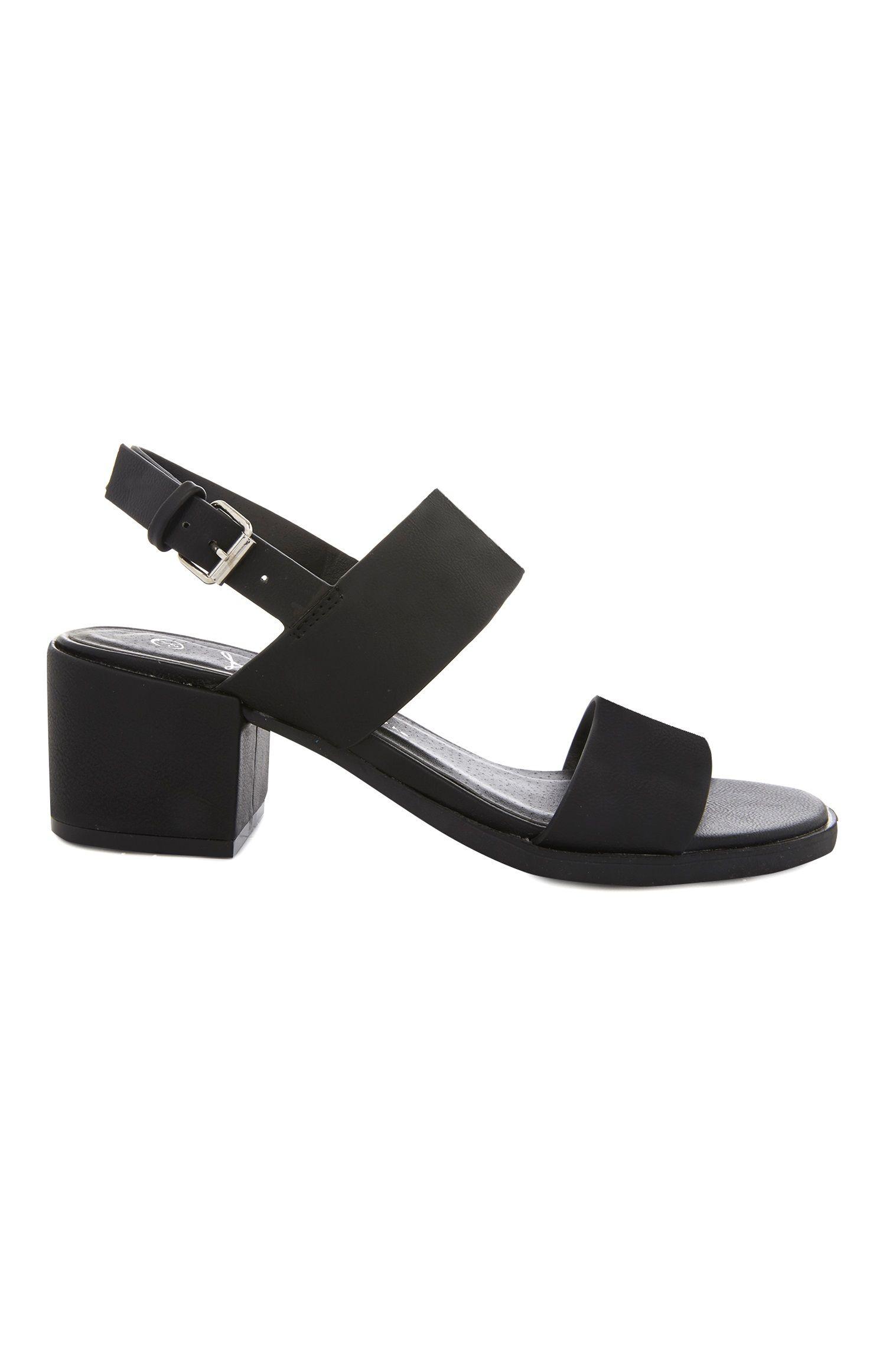 Primark Black Block Heel Sandal   Black