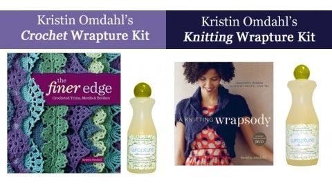 For the crafty person on your list, there are two great Wrapture Kits featuring our jasmine scented wool wash and popular books by designer Kristin Omdahl!