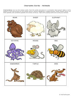 FREE Animal Charades Cards - Get kids up and moving with ...