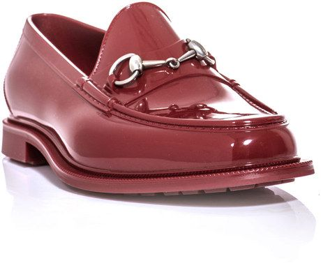 7c142959eb1a Gucci Rubber Loafers in Red for Men - Lyst