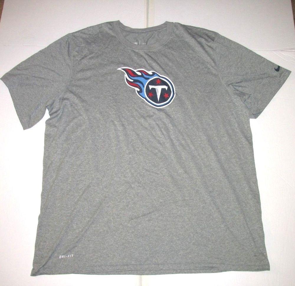 Nike Tennessee Titans Dri-FIT Shirt Mens 2XL Grey  Nike  TennesseeTitans fd45a3a8c