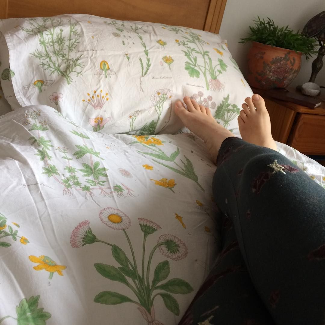 Strandkrypa   Ikea Floral bedding     and no I don t Iron. Strandkrypa   Ikea Floral bedding     and no I don t Iron