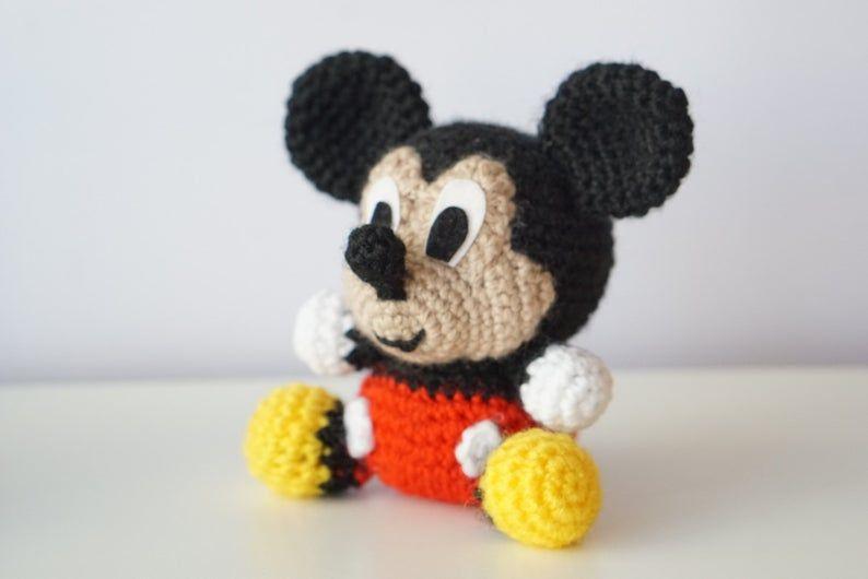 Mickey & Minnie Dolls Crochet Patterns Book Disney Mouse Toys Soft ... | 530x794