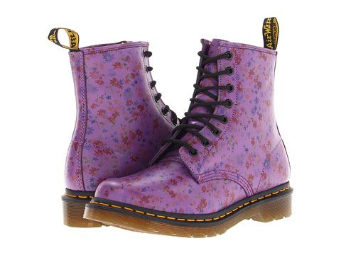 Dr. Martens 1460 8-Eye Boot Bright Purple Little Flowers