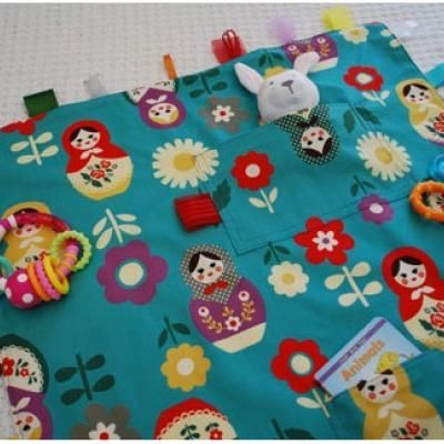 Baby Toy blanket with velcro loops Tutorial