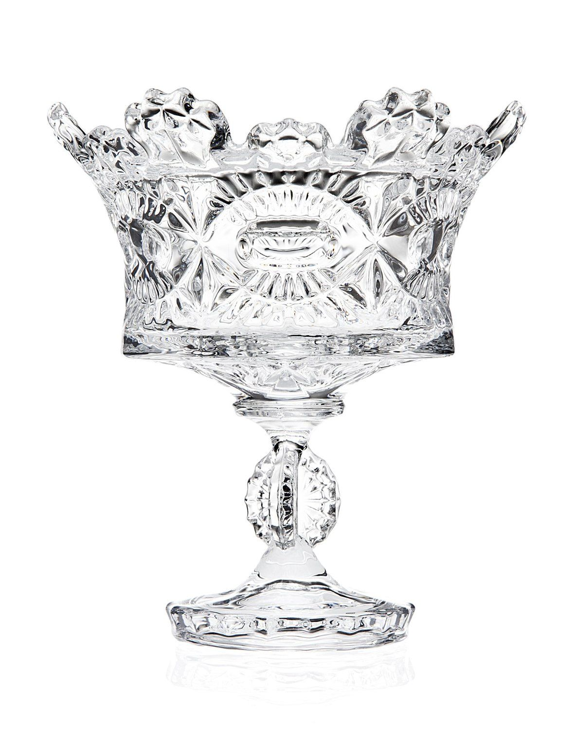 Amazon.com | Godinger Royalty Footed Candy Dish, 5.10Lx5.10Wx5.63H (1, A): Crystal Bowl: Candy Dishes
