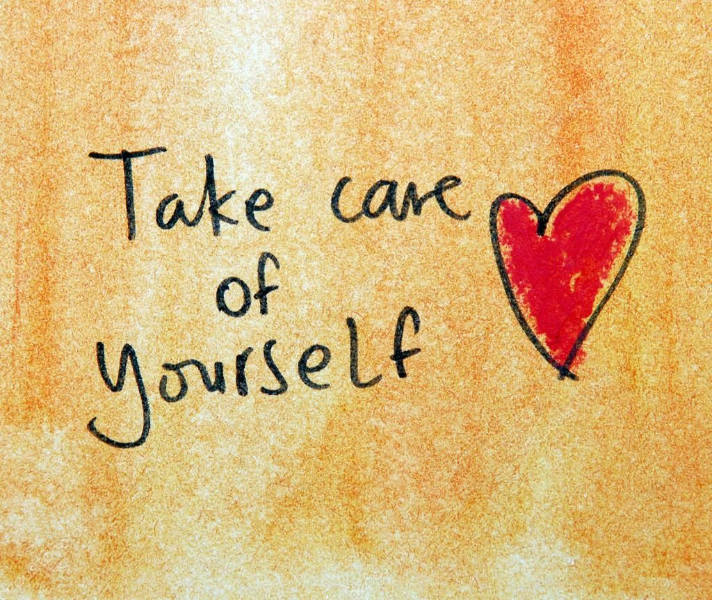Download Royalty Free Take Care Of Yourself Text On Grunge