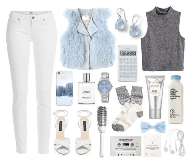 """""""Snow"""" by shehanisamara ❤ liked on Polyvore featuring Brooks Brothers, Ippolita, Paige Denim, H&M, Rebecca Taylor, Forever New, Hershesons, philosophy, Laura Mercier and Seiko"""