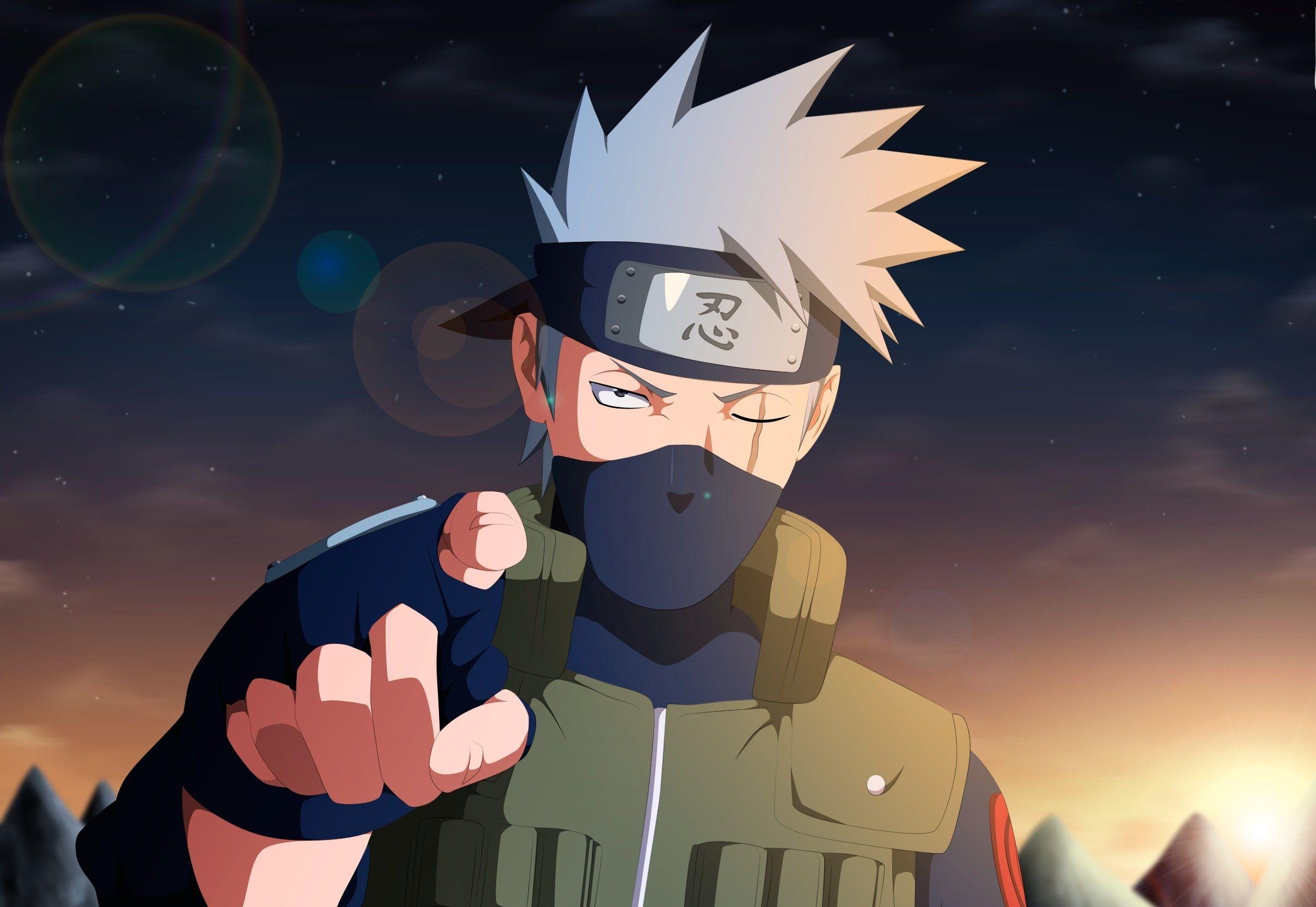 Naruto War Anime Ninja Manga Kakashi Hatake Kakashi Shinobi Naruto Shippuden Jounin Hitayate Scar Vest 4th N Anime Wallpaper Digital Art Anime Anime