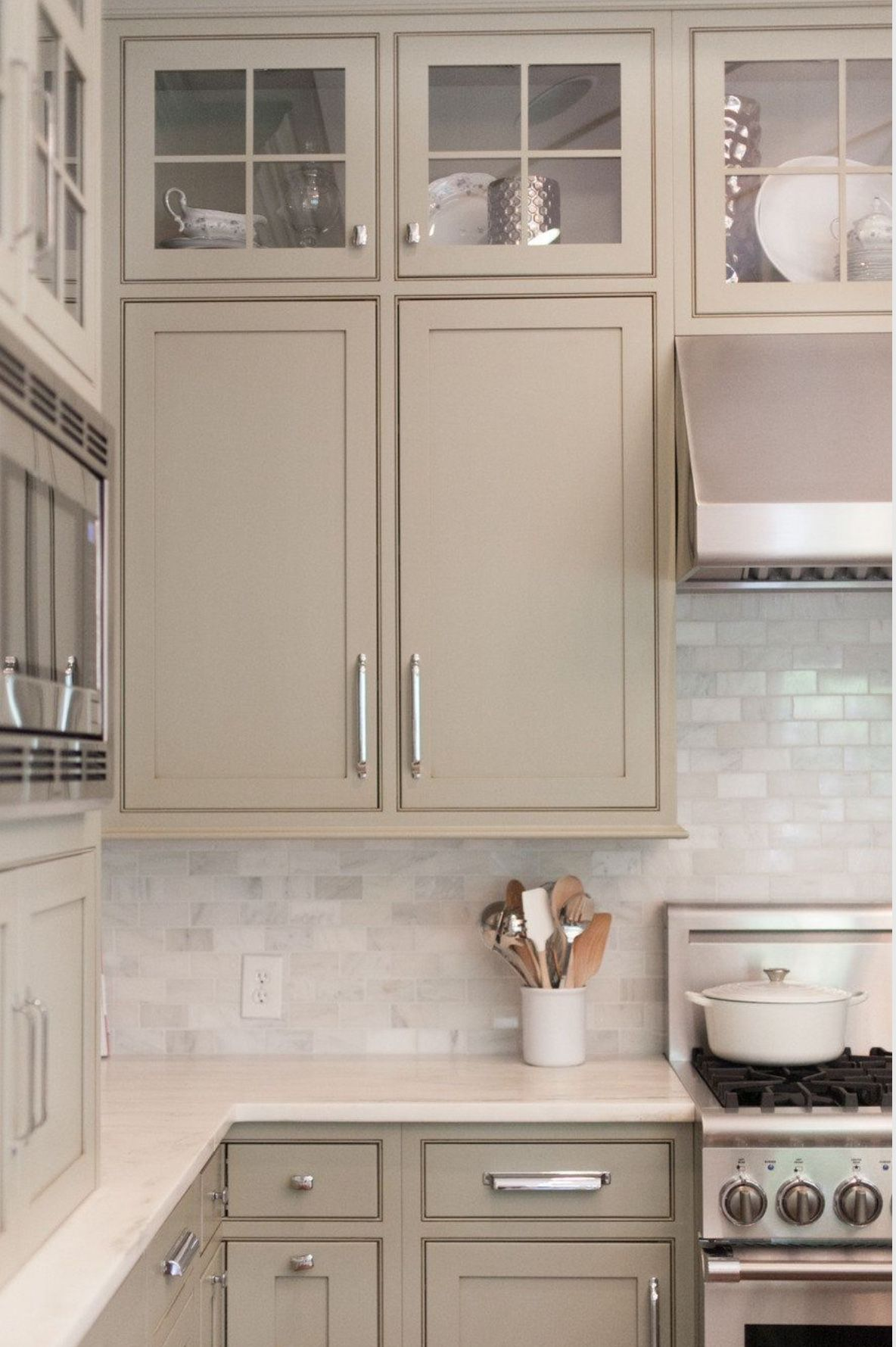 Beautiful Neutral Cabinet Color Kitchen Diningtaupe