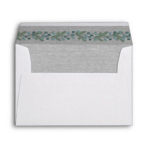 Winter Pine Greenery Wedding 5x7 Envelope Ideas Pinterest Envelopes And