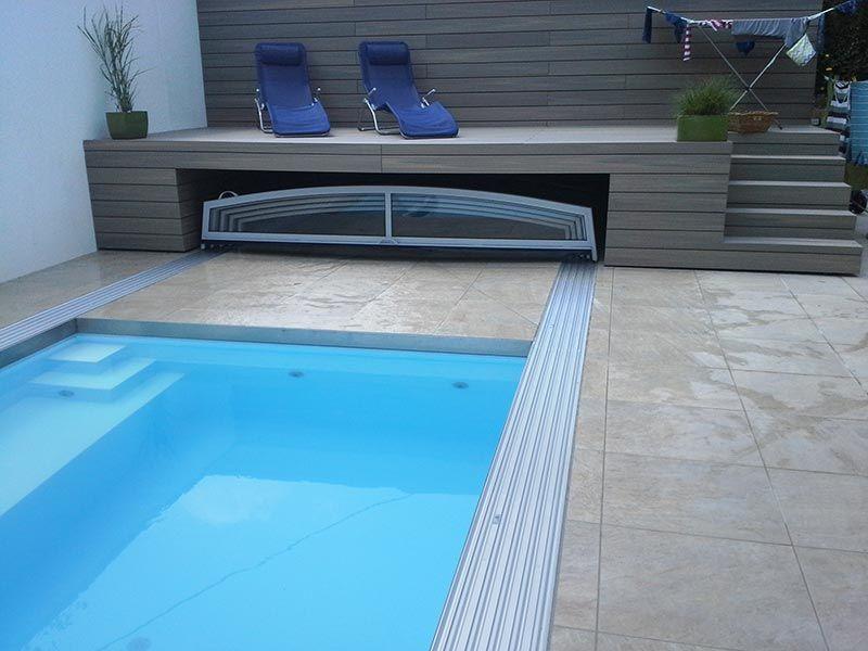 Flache Poolüberdachungen bzw Kuppeln für Schwimmbecken pool - schwimmbad selber bauen