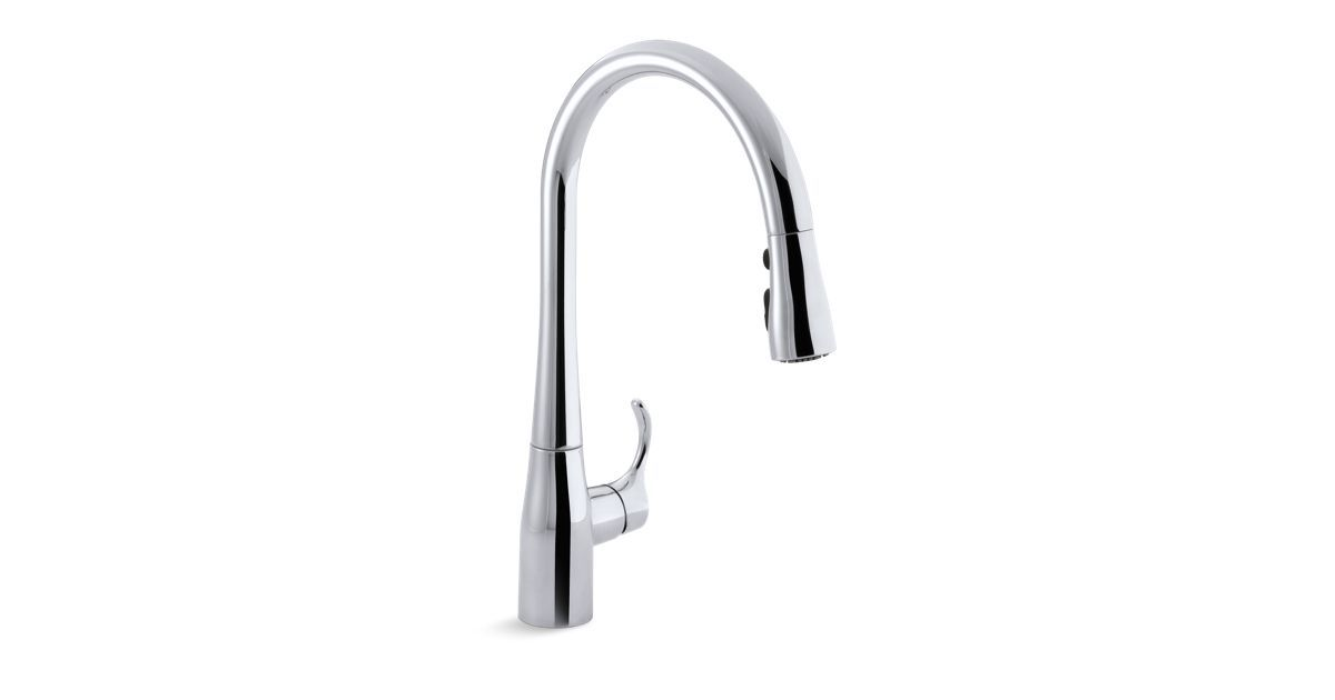 Simplice Single Hole Or Three Hole Kitchen Sink Faucet With 16 5