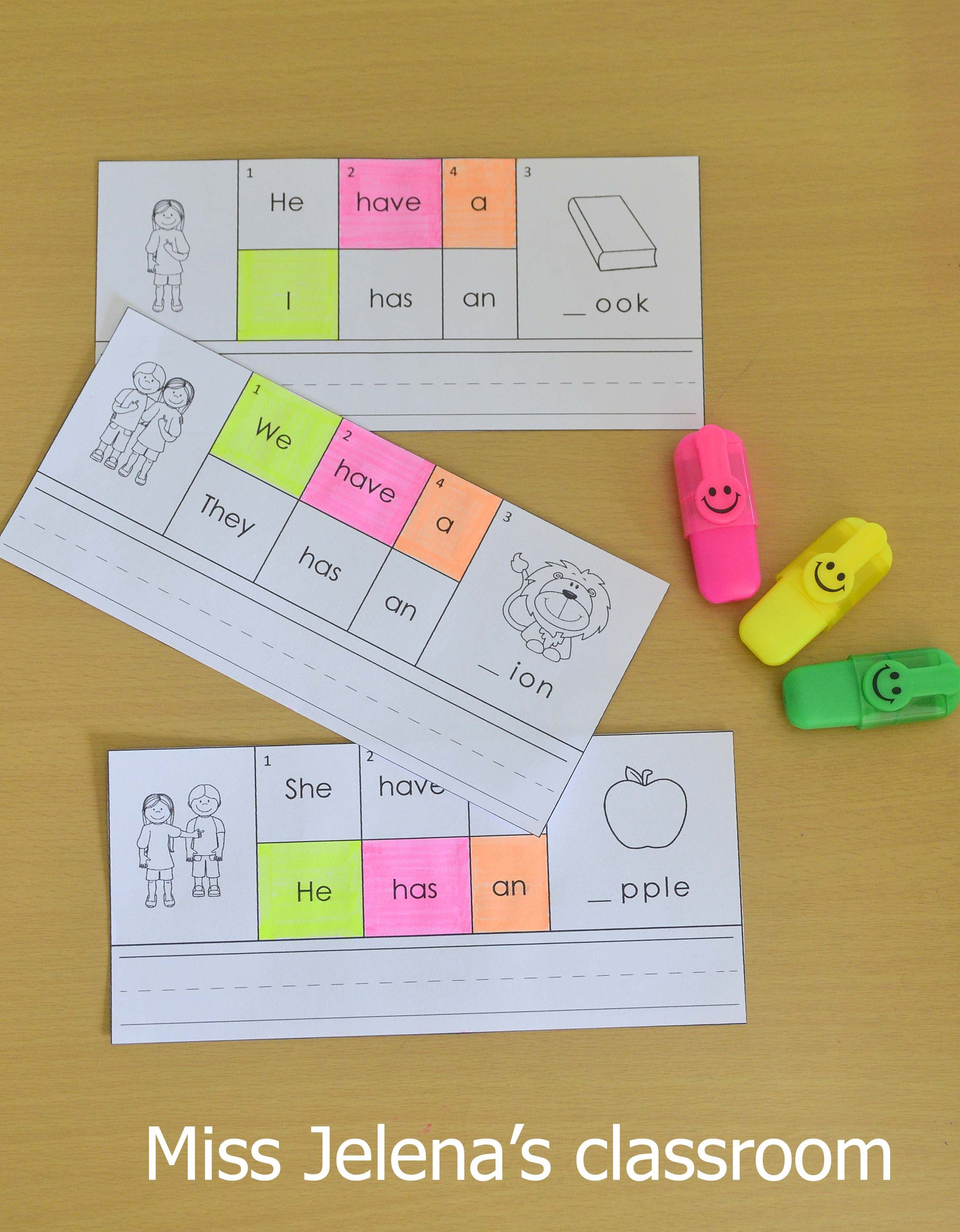 Building Sentences Cards