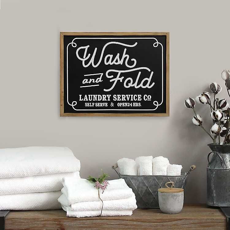 Wash And Fold Framed Wall Plaque Wash And Fold Frames On Wall Stratton Home Decor