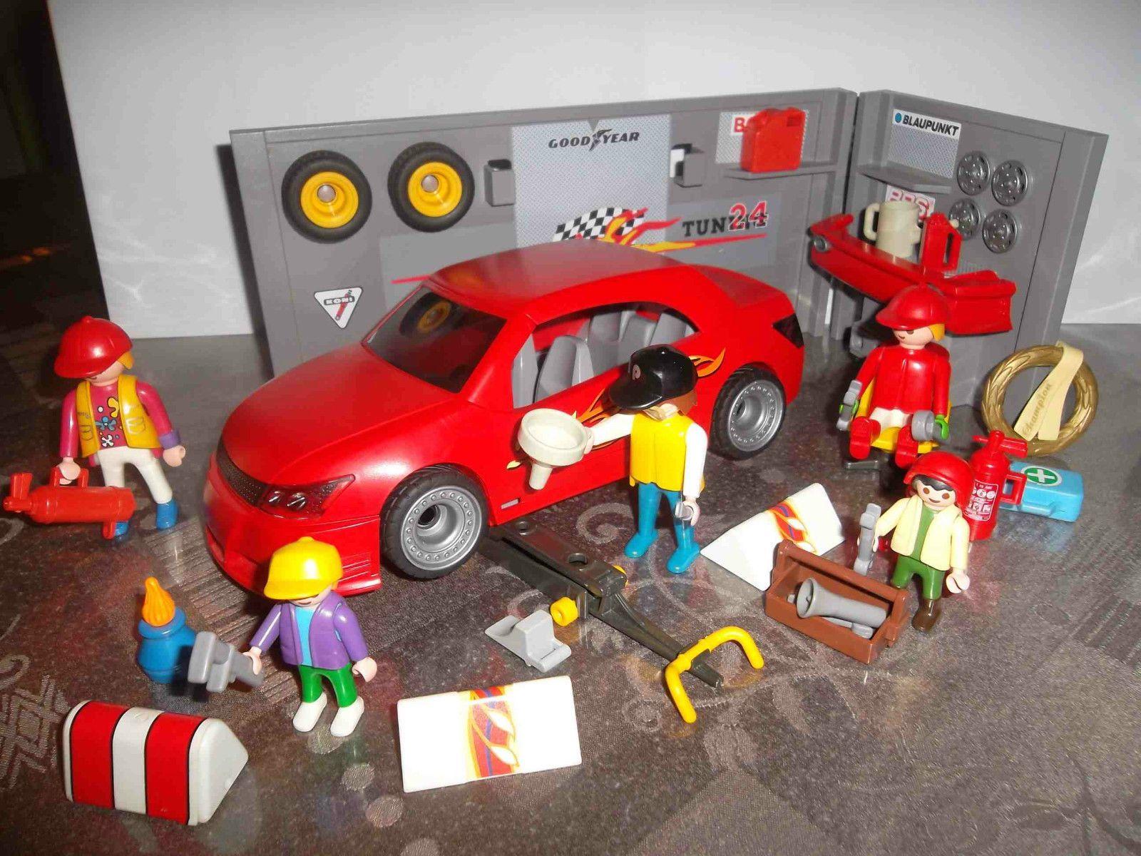 Playmobil garage tuning atelier voiture et perso etc - Voiture tuning playmobil ...