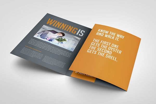 Business Image Trifold Brochure On Behance  Print