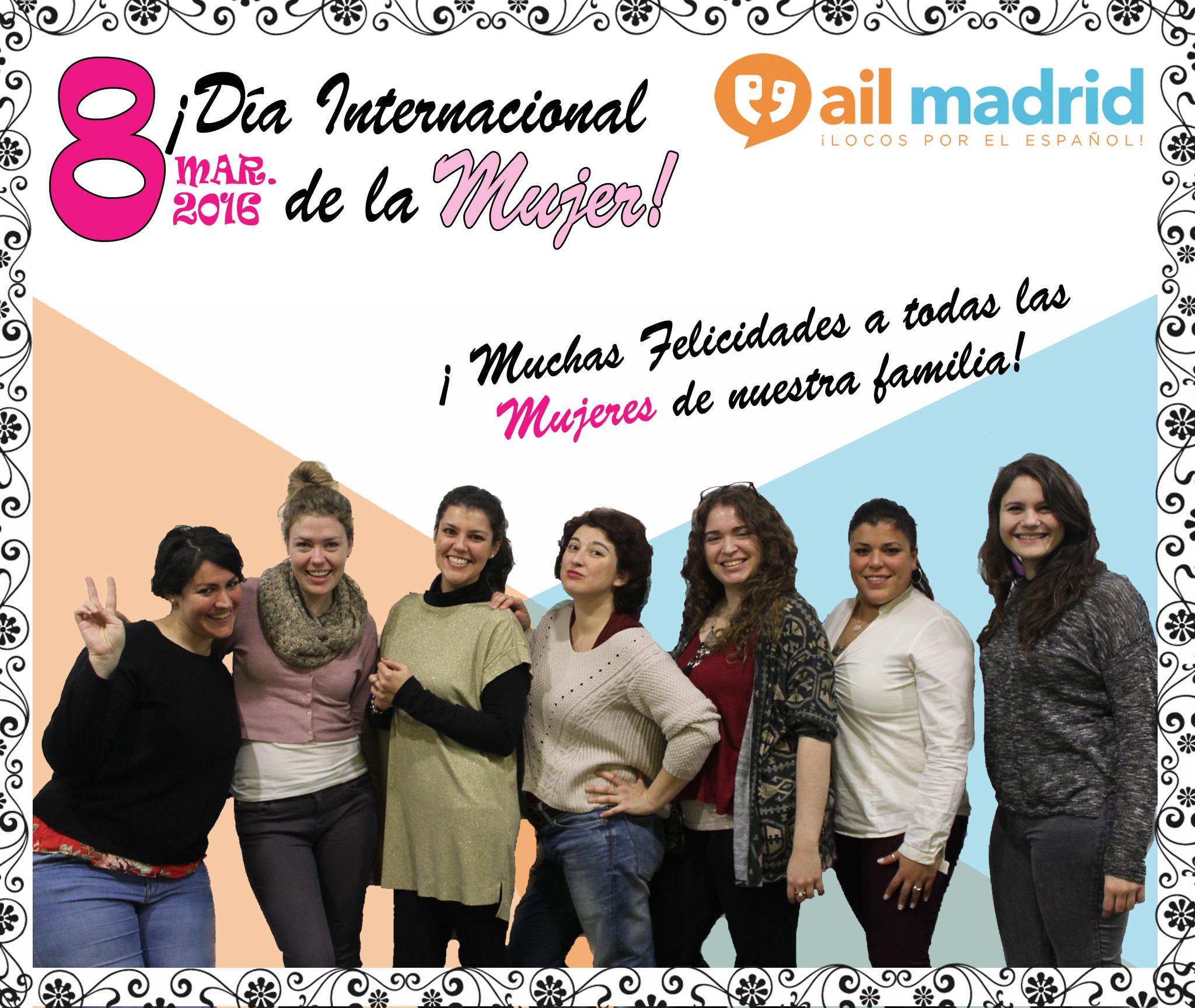 ¡Es un gran dia para celebrar el Día Internacional de las Mujeres y hemos pasado la clase hablando sobre historias más inspiradoras de las mujeres de AIL! --- It's a great day to celebrate #InternationalWomensDay- we've spend the day hearing inspirational stories from the AIL women!