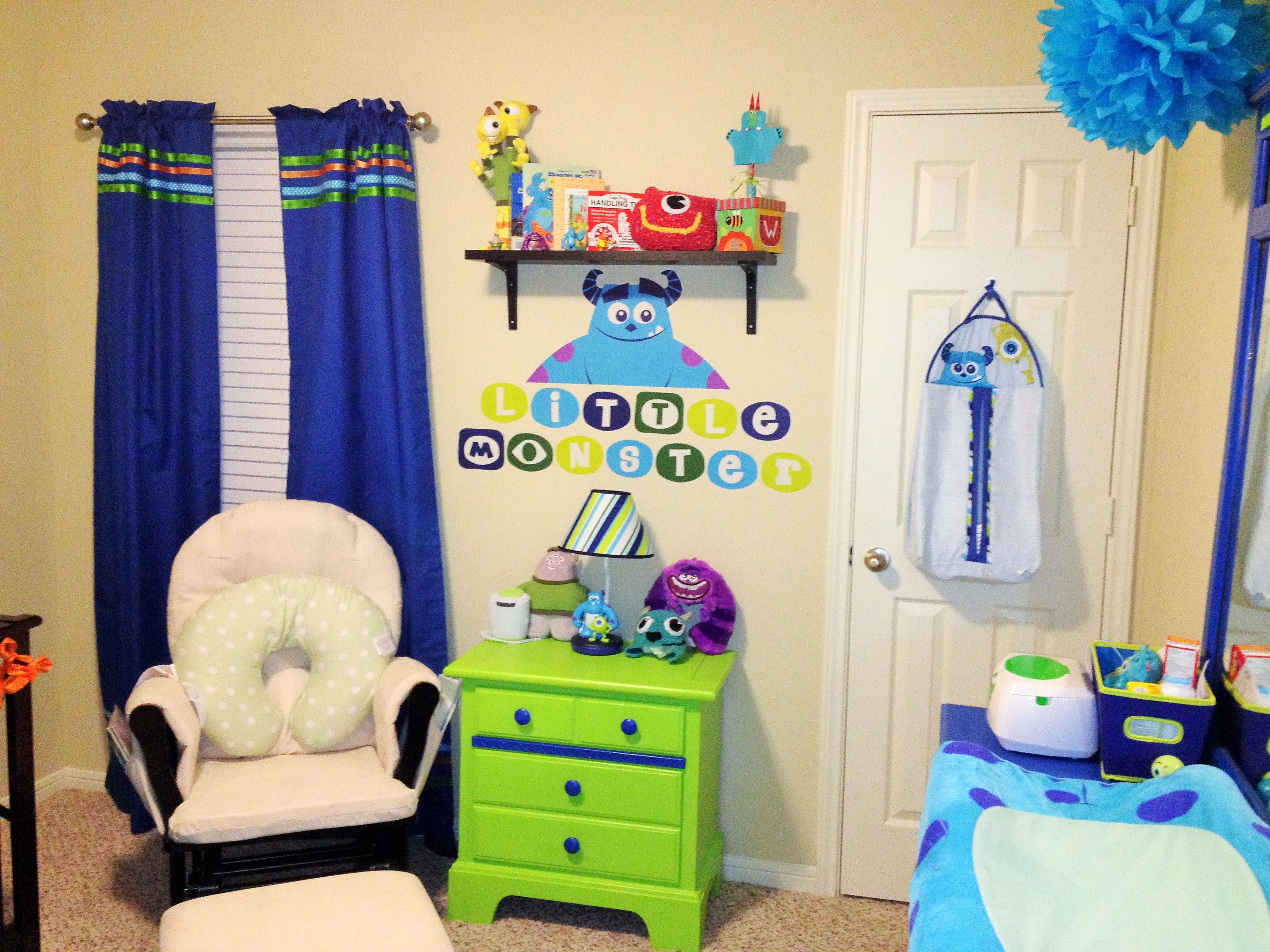 Love our monsters inc nursery i was able to purchase a love our monsters inc nursery i was able to purchase a nightstand and dresser at amipublicfo Choice Image