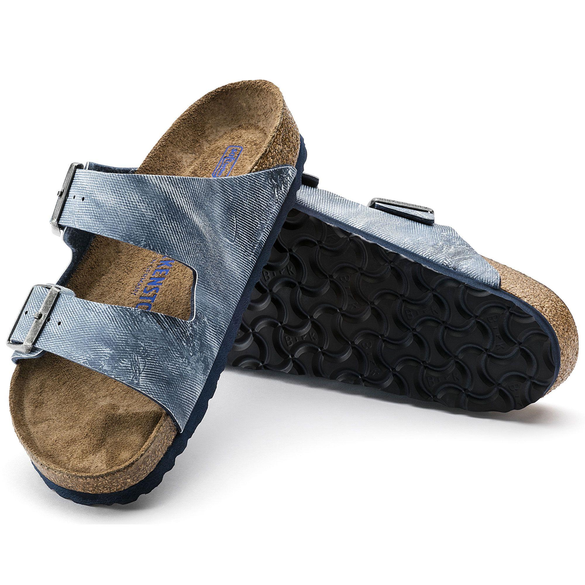 c3ffd12705f45 Arizona Birko-Flor Soft footbed Jeans Washed Out Blue