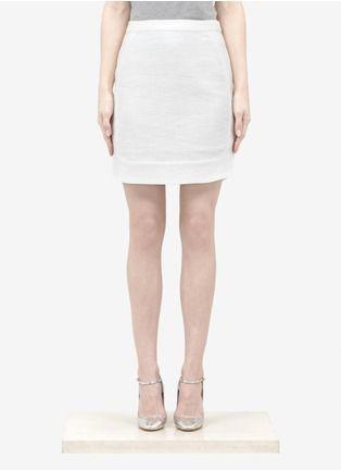 L'Agence - Textured pencil skirt - on SALE | White Knee-length Skirts | Womenswear | Lane Crawford - Shop Designer Brands Online