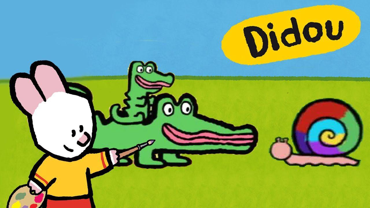 Didou, dessine-moi : Crocodile et Escargot | Dessins animés (avec ...