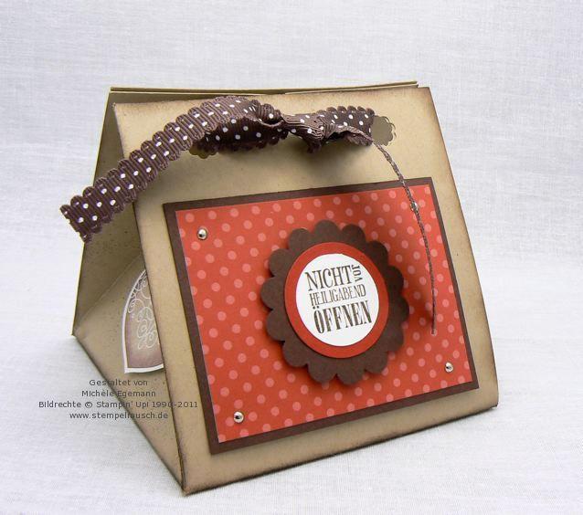 tutorial box treat holders pinterest verpackung weihnachten und stempel. Black Bedroom Furniture Sets. Home Design Ideas