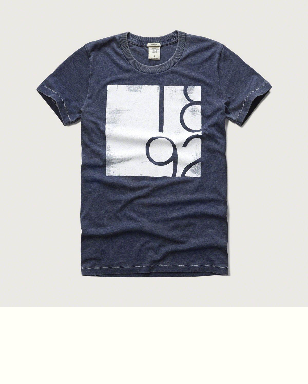 Mens - Graphic Crew Tee | Mens - Sale | eu.Abercrombie.com