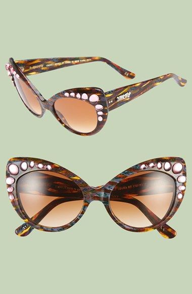 c28be5f94faa a-morir  Kibby  55mm Embellished Cat Eye Sunglasses available at  Nordstrom