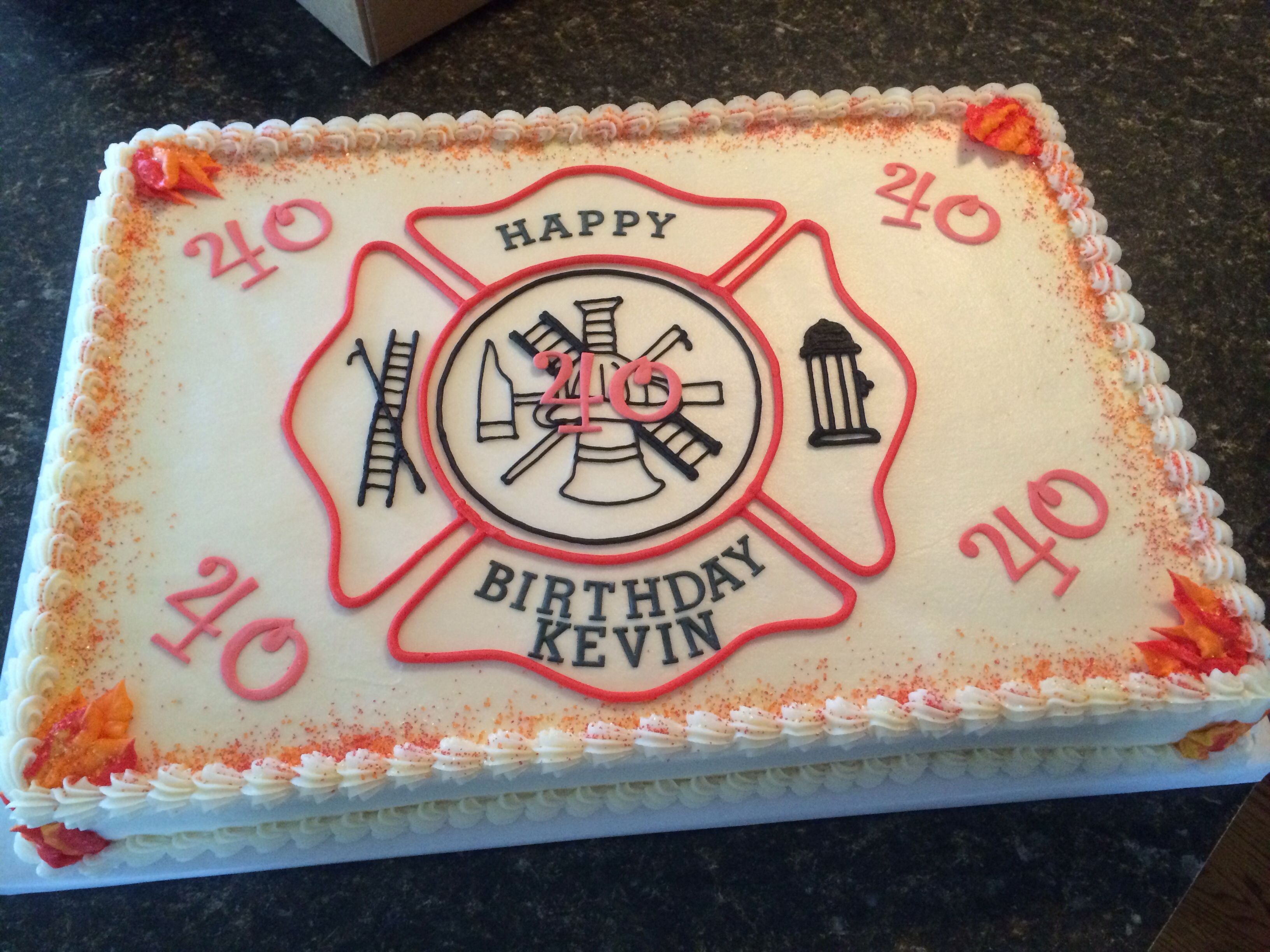 Marvelous Firefighter 40Th Birthday With Images Firefighter Birthday Personalised Birthday Cards Veneteletsinfo